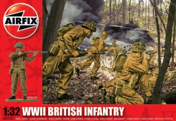 A02718  British Infantry WWII 1:32  1:32 kit