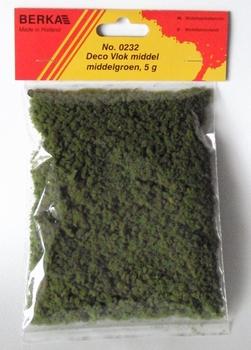 0232  Decoratievlok middengroen middel  5 gram