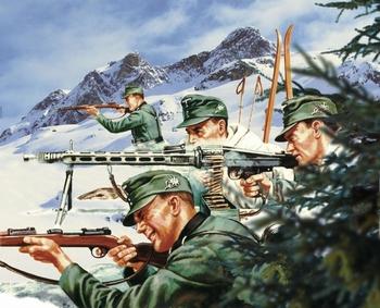 A04713  WWII German Mountain Troops  1:32 kit