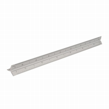 011194 Aluminium Driehoekige schaalstok  300 mm