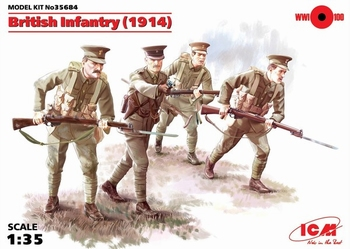 ICM35684  British Infantry (1914), (4 figures)  1:35 kit