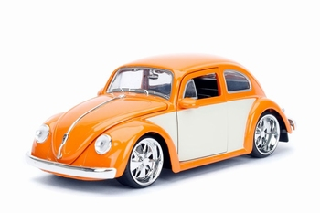 990184  Volkswagen Beetle 1959  Orange Cream  1:24