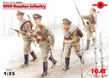 ICM35677  WWI Russian Infantry  1:35 kit