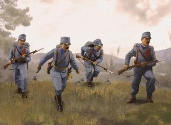 ICM35673  Austro-Hungarian Infantry 1914 (4)  1:35 kit