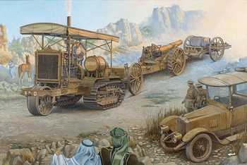R814  Holt 75 Artillery tracktor w/BL 8-inch Howitzer  1:35 kit