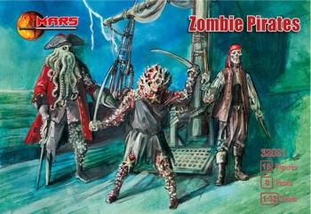 MAR32021  Zombie Pirates ( 15 figuren)  1:32