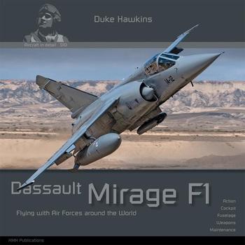 HMH010   Duke Hawkins-Dassault Mirage F1 Book 84 Paginas  24 x 24 cm