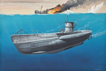 RE5093 Deutsches U-Boot TYPE VII C  1:350 Kit