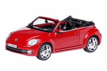 07477  Volkswagen Beetle Cabriolet  rood  1:43
