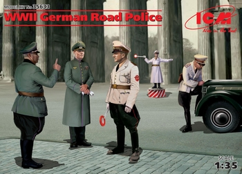 ICM35633  WWII German Road Police (5 figure)  1:35 Kit