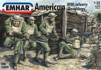 EM3509  American WWI Infantry 'Doughboys'  1:35 kit