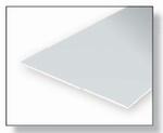 9040  Gladde plaat 152x292 mm - Wit  1 mm 2 stuks