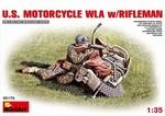 MA35179  US Motorcycle WLA w/Rifelman 1:35 kit