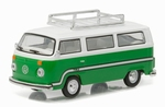 29840F Volkswagen Type 2 Bus - Sumatra Green with Roof '77 1:64