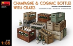 MA35575  Champagne & Cognac Bottles with Crates 1:35 kit
