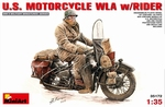 MA35172  U.S.  Motorcycle  WLA  with Rider 1:35 kit