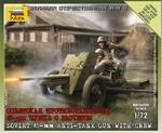 ZV6112  Soviet 47 mm (Mod. 1937) Antitank Gun & Crew 1:72 kit
