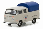 41020E  1974 Volkswagen T2 Double Cab Pickup with Canopy 1:64