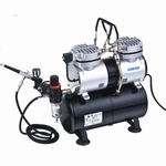 AS196K  Airbrush Set Compressor + Airbrish BD130 +Accesoires