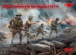 ICM35703  British Infantry in Gas Masks (1917) (4 figures) 1:35 kit