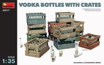 MA35577  Vodka Bottles with Crates 1:35 kit