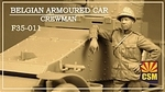 CSM F35-011  Belgian Armoured Car Crewman 1:35 kit