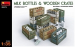 MA35573  Milk Bottles & Wooden Crates 1:35 kit