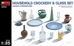 MA35559  Household Crockery & Glass Set 1:35 kit