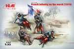 ICM35705  French Infantry on the march (1914) (4 figures) 1:35 kit