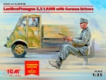 ICM35418  Lastkraftwagen 3,5t AHN w.German Drivers Limited 1:35 kit