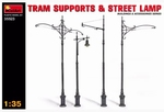 MA35523  Tram Supports & Street Lamp 1:35 kit