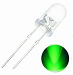 899L  LED Diode Groen Knipperend Bolkop (helder) 5 mm 10 Stuks
