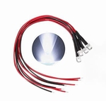 897F  LED Diode Wit Bolkop (helder) 5 mm 4 Stuks