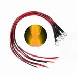 897G  LED Diode Geel Bolkop (helder) 5 mm 4 Stuks