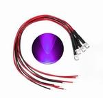 897H  LED Diode Paars UV Bolkop (helder) 5 mm 4 Stuks