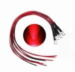 897K   LED Diode Rood Bolkop (helder) 3 mm 3 stuks