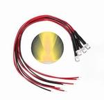 897L  LED Diode Warm-wit Bolkop (helder) 3 mm 3 stuks