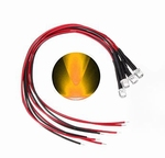 897Q  LED Diode Geel Bolkop (helder) 3 mm 3 stuks