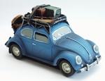 310  Volkswagen Kever met Koffers  blauw +/- 15 cm