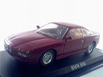 1162  BMW 850 I (donkerrood) 1:43