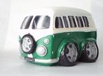 91919  Volkswagen Bus Spaarpot (groen) 14x11x9,5 CM