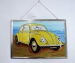 CG042 Raamhanger Volkswagen Kever (geel) B30 CM x H20 CM
