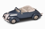 94230  Ford V8 Convertible 1937 (donkerblauw) 1:43