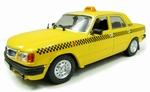 1238  GAZ Volga 3110 Russian Taxi  geel/zwart 1:43