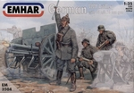 EM3504  WWI German Artillery 3 with 96 n A 76mm Gun 1:35 kit