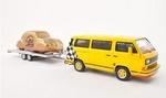 13057  Volkswagen T3b + Aanhangwagen met Kever 1:43