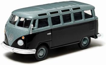96120L  Volkswagen Samba Bus  blauw