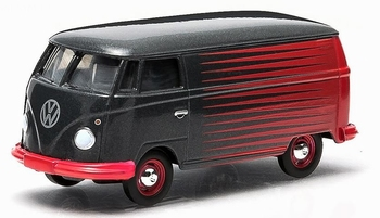 96130K  Volkswagen Panel Bus 1962 zwart/rood