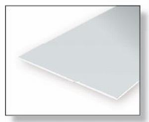 9040  Gladde plaat 152x292 mm - Wit  1 mm