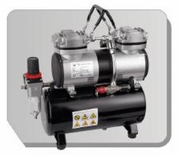 AS196  Airbrush mini compressor met luchttank